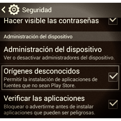 origenes desconocidos google play store